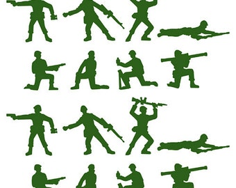 Army Toy Soldier Wall Decals