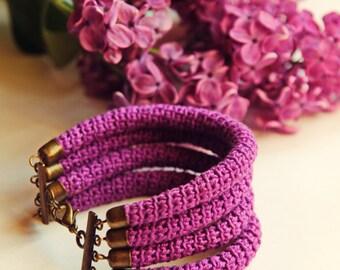 """Knitted bracelet """"Summer"""""""
