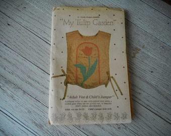 My Tulip Garden adult vest & childs jumper uncut pattern