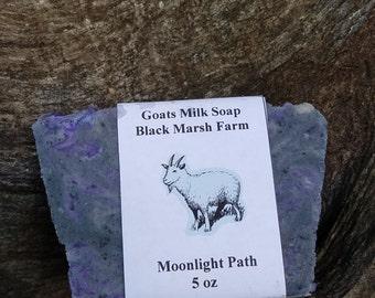 Goats milk soap moonlight path type
