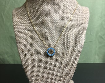 Flower Burst Pendant Necklace
