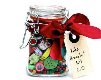 Kinder Bastelset, Schmuckherstellung Kits für Kinder, Perle-Kits, Geschenk für Mädchen, Geschenke für Kinder, Geschenke für Kinder, ungewöhnliche Kinder Geschenk, Glas