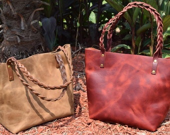Handmade Leather Tote Bag Made in USA