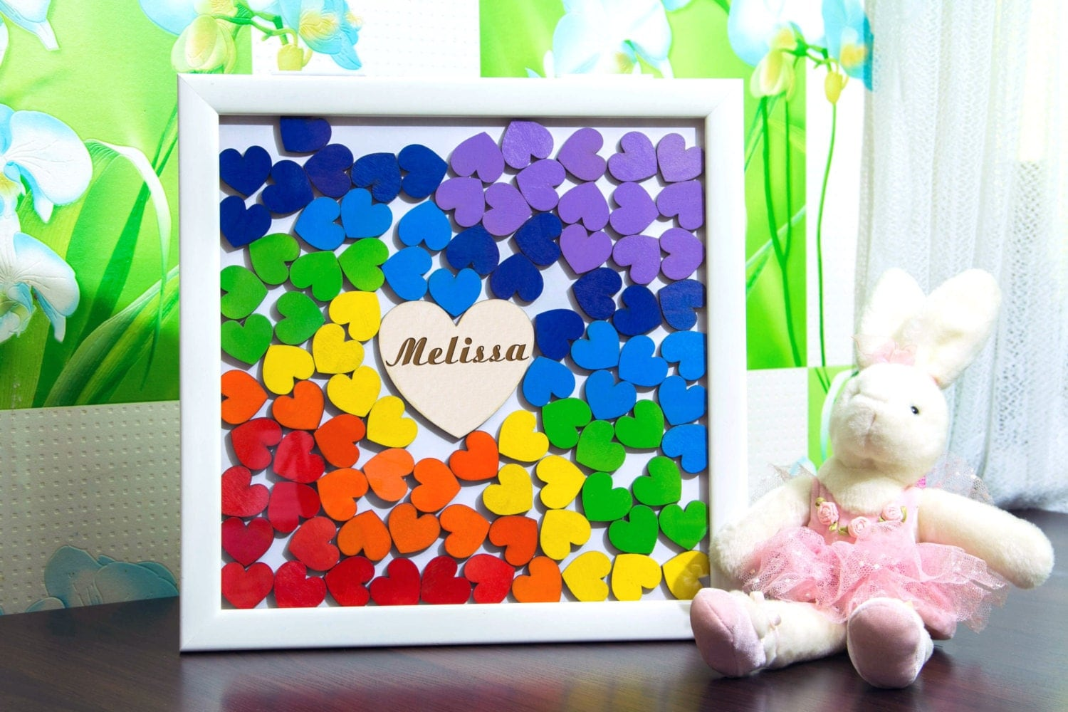baby shower guest book alternative rainbow sprinkle by decentcraft