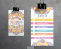 LuLaRoe Business Cards • Customizable • Printable • VERTICAL Layout • Home Office Approved • Mandala Design
