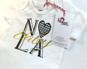 NOLA Baby Bodysuit - NOLA - New Orleans Baby  - Louisiana - Newborn - Baby Girl - Baby Boy - Louisiana Baby - Made in New Orleans