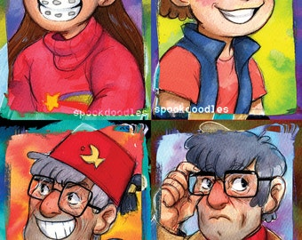 A5 Prints Gravity Falls- Pines Family