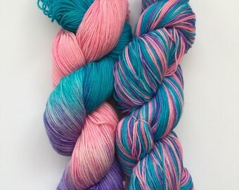 Hawaiian Breeze Hand Dyed Sock Yarn 100g DYED TO ORDER