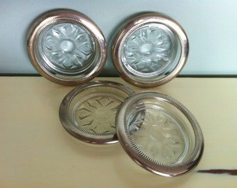 Birks Glass & Silver-plated Coasters