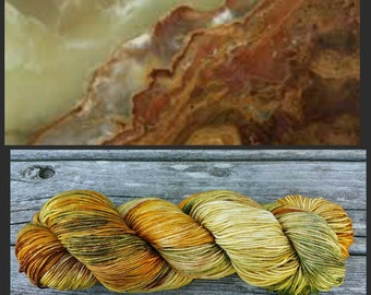 Hand Dyed Yarn, Merino and Nylon Fingering Weight Variegated Sock Yarn Perfect for Socks, Shawls and Other Lightweight Accessories - Onyx