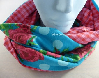 Loop, roses with dots, circle scarf, shawl, scarf, scarf, infinity, roses, diamonds, accessories