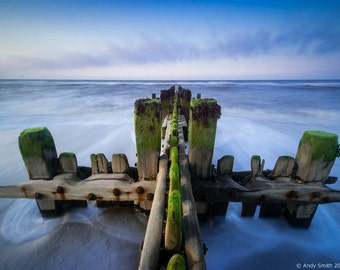 Sea defences at Happisburgh Beach