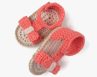 Baby girl sandals pattern - Crochet pattern slippers - Baby shoes handmade - Baby summer clothes - Pdf pattern shoes - Baby girl sandals