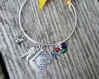 Hocus Pocus Inspired Bracelet,  Sanderson Sisters Jewelry, Halloween Bracelet, Witches, Salem, Spell Book, Black Cat, Zombie, Fantasy