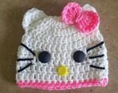 Kitty Girls Beanie. Baby Toddler Child