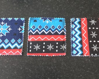 Fabric coasters - set of 3