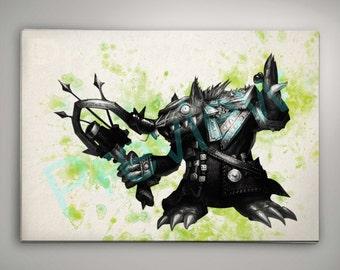 Twitch League of Legends Watercolor Art