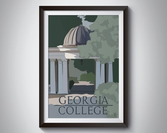 Georgia College | Travel Poster | Instant Download