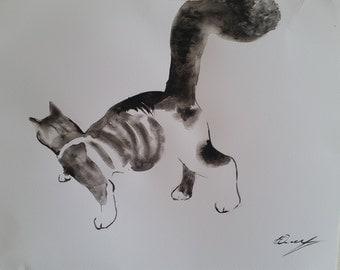 Watercolor - cat