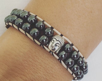 Bracelet with Beautiful Buddha Hematita