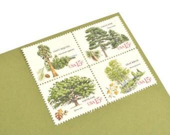 25 American Trees Stamps - 15c - Vintage 1978 - Unused Postage - Quantity of 25