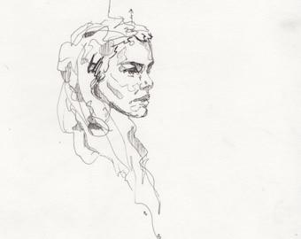 Original pen sketch 3