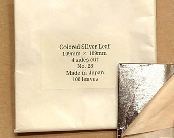 Japanese Colored Silver Leaf- 100 leaves