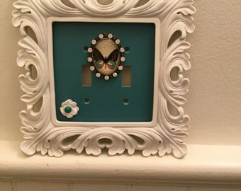 Light switch plate framed,home decor, gift
