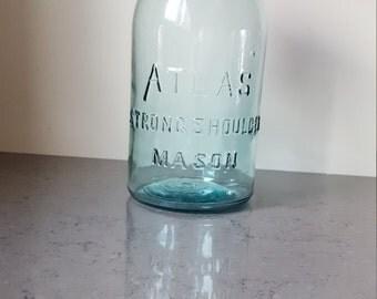 FREE SHIPPING!!! Hazel Atlas strong shoulder mason jar