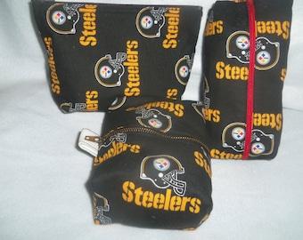 Steelers Cosmetic Bag - Zippered
