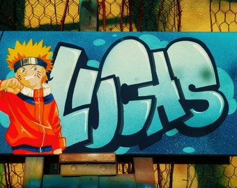 canvas LUCAS name graffiti streetart gift