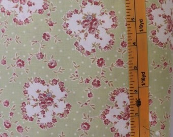 RJR, Robyn Pandolph, Hope cove, light green quilting fabric with flowers