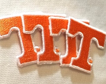 Tennessee Volunteers embroidered Iron On patches choose quantity *Small Vols patch for crafts crochet hats clothing