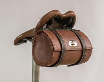 Vintage Bicycle Saddle Tool Bag Rear Cycling Retro Brooks Saddle Leather