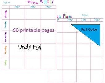 2016-2017 Editable Lesson Plan template