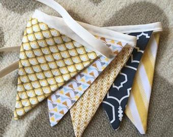 Fabric Banner - Small Pennant Banner - Bunting