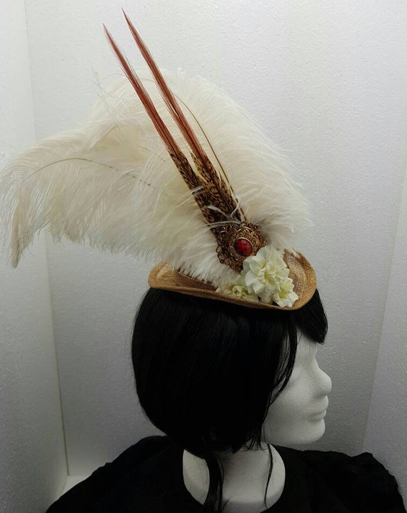 SALE steampunk Sinamay Hat / Sinamay has steampunk