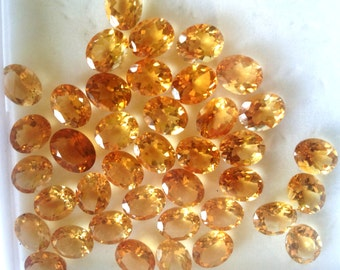 Natural AAA Citrine Oval 8x10 mm Gemstones