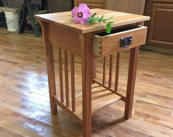 Heirloom Craftsman Solid Cherry Handmade Nightstand