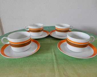 4 cups and saucers Schonwald Germany