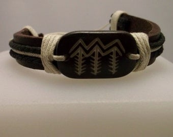 Leather and Bone Tribal Bracelet