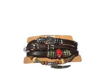 Sliding Knot Bracelet, Infinity Leather bracelet, Boho Bracelet, Adjustable, Friendship Bracelet