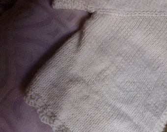 New Zealand Merino Hand-knitted infants cardi