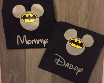 Super Hero Batman Mickey Mouse Shirt Disney matching shirts Birthday Matching shirts