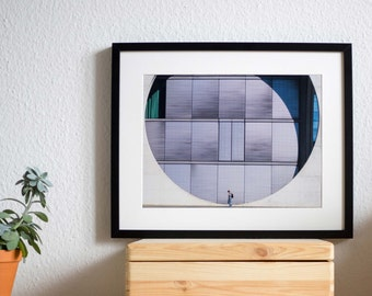 Berlin, urban, photography, print, poster, city life, architecture, stride by, wall decor, home decor, city, germany, circle