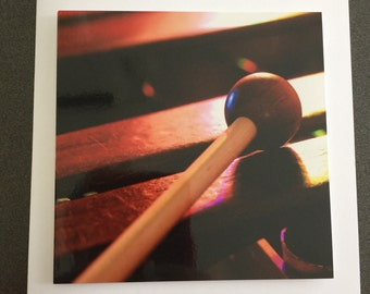 Greeting card xylophone
