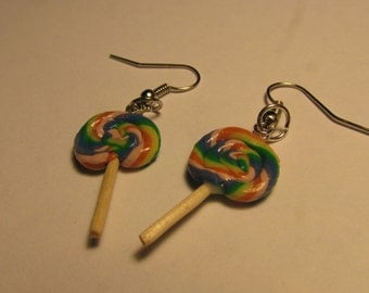 Rainbow Swirl lollipop