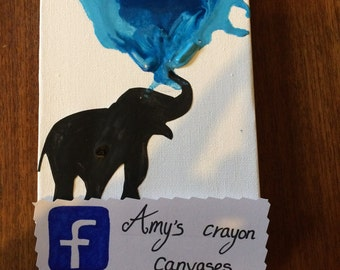 Elephant silhouette canvas