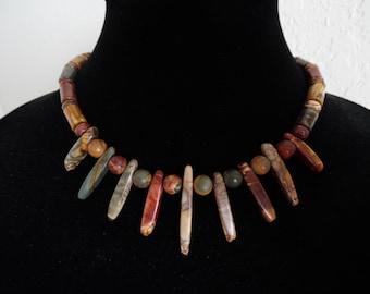 Red Creek Jasper Tribal Necklace