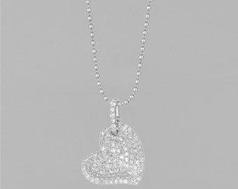 112 1 Ct Diamond 14 K gold necklace